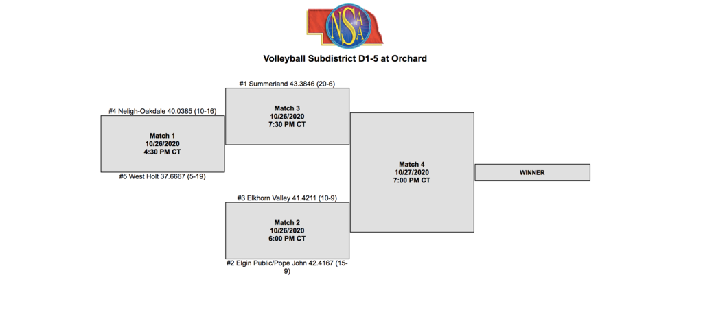 subdistrict volleyball