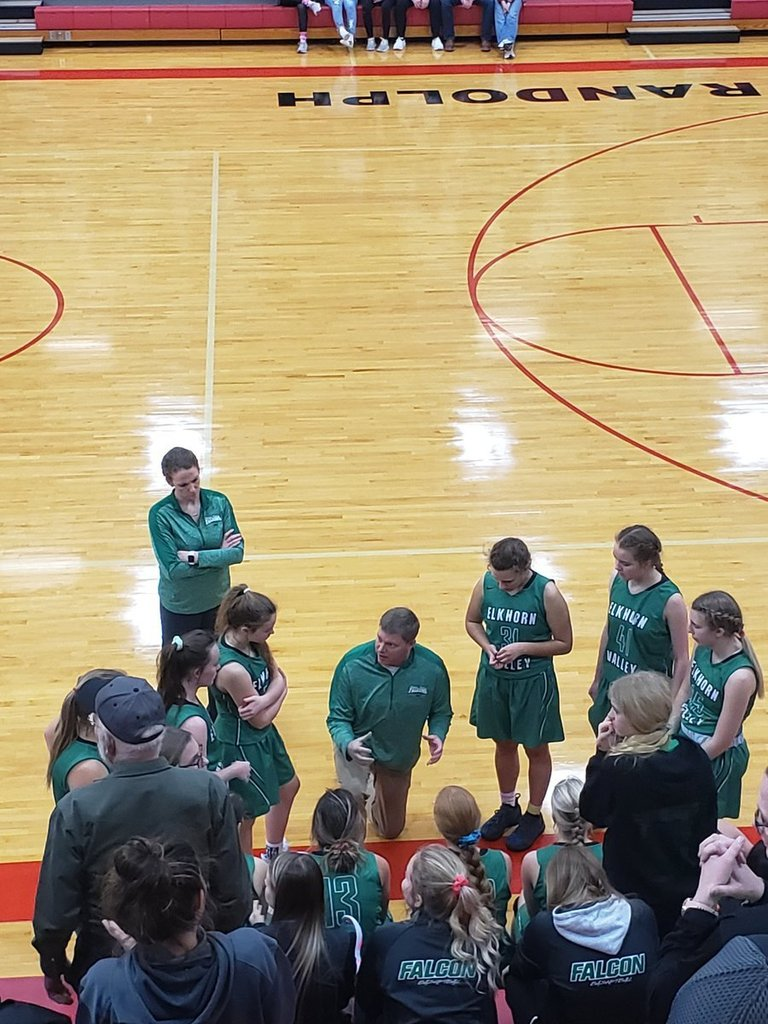 Girls Basketball team preparing for the game last weekend.