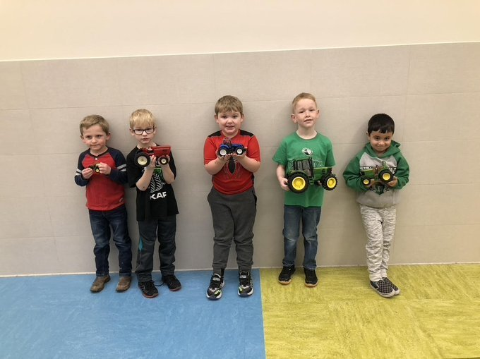 Elementary Students got to bring their favorite toy tractor to school for FFA week