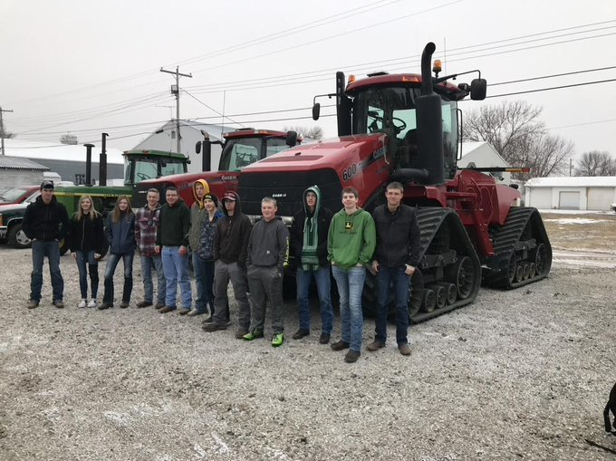 Elkhorn students drive their tractor to school for FFA week